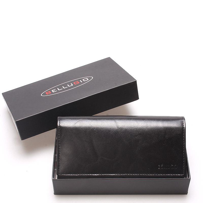 Veľká dámska kožená peňaženka čierna - Bellugio Caeneus čierna