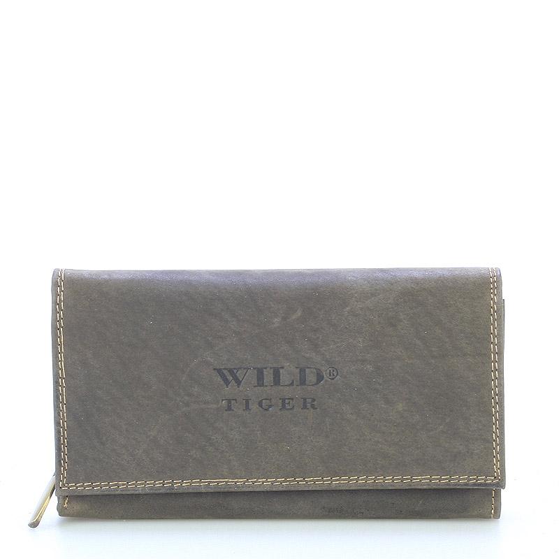 Dámska kožená peňaženka tmavo hnedá - WILD Haemon New hnedá