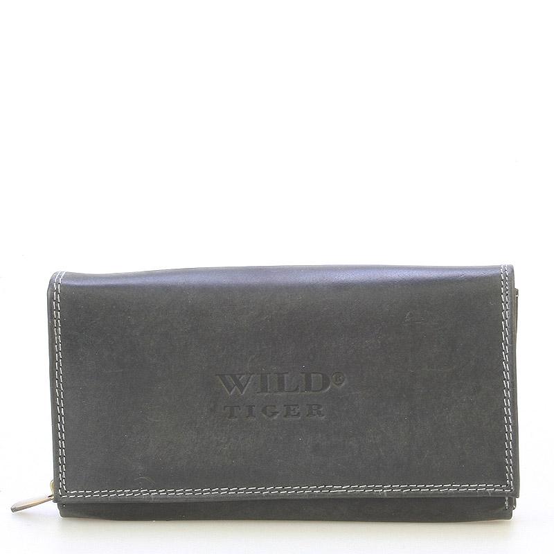 Dámska kožená peňaženka čierna - WILD Haemon New čierna