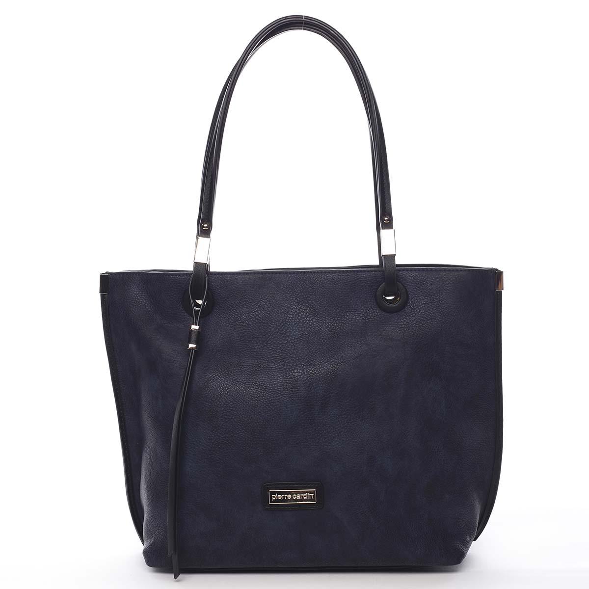Luxusná dámska kabelka sivo-modrá - Pierre Cardin Comtesa farebná