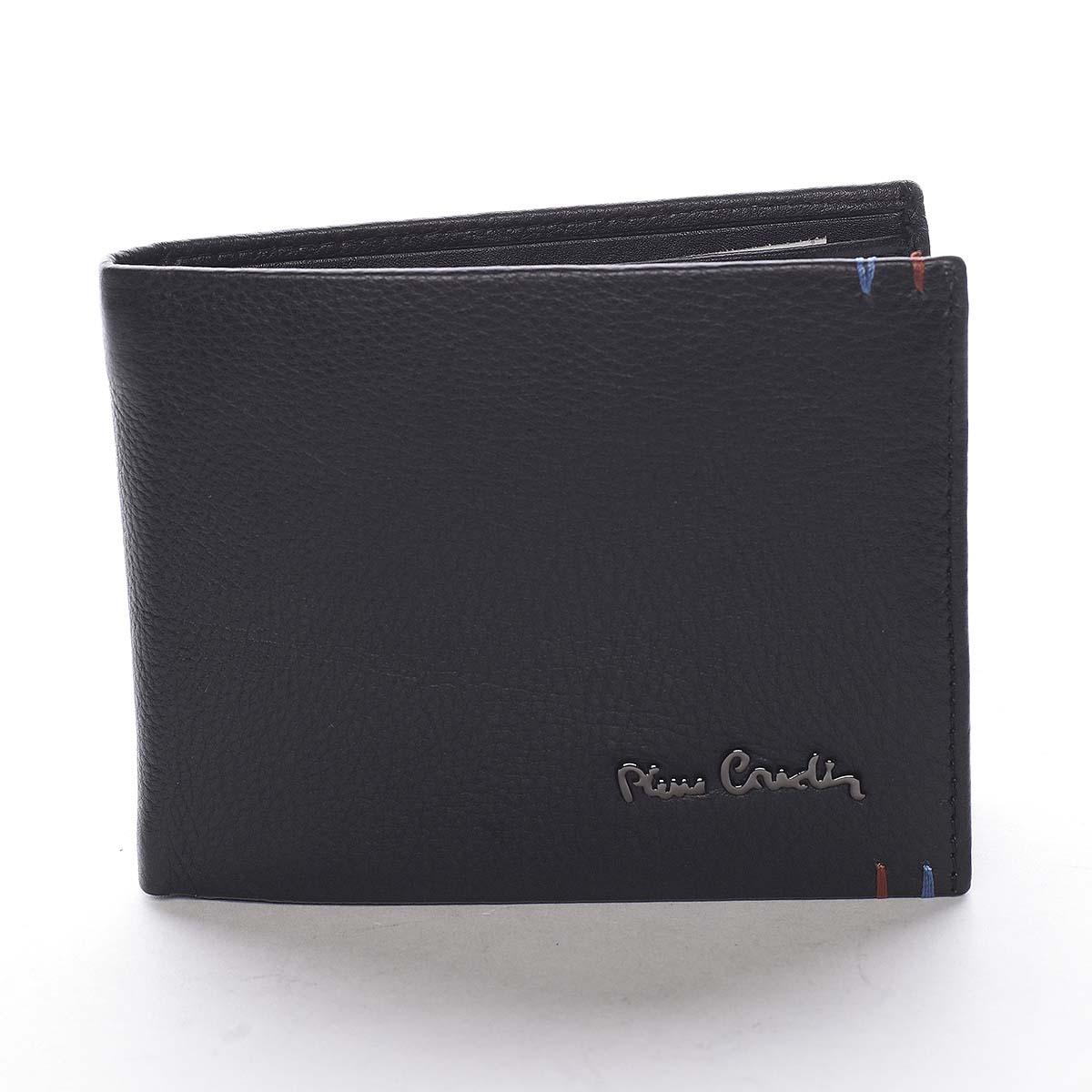 Pánska kožená peňaženka čierna - Pierre Cardin Pierre čierna