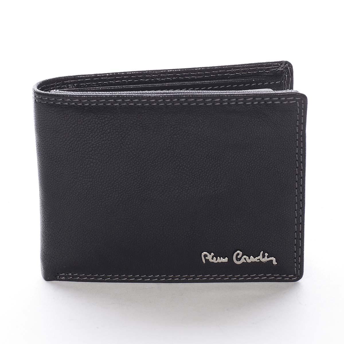 Pánska kožená peňaženka čierna - Pierre Cardin Sakul čierna
