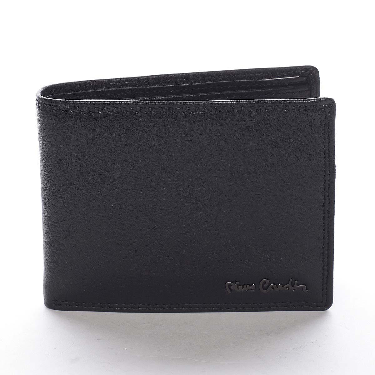 Pánska kožená peňaženka čierna - Pierre Cardin Lenz čierna