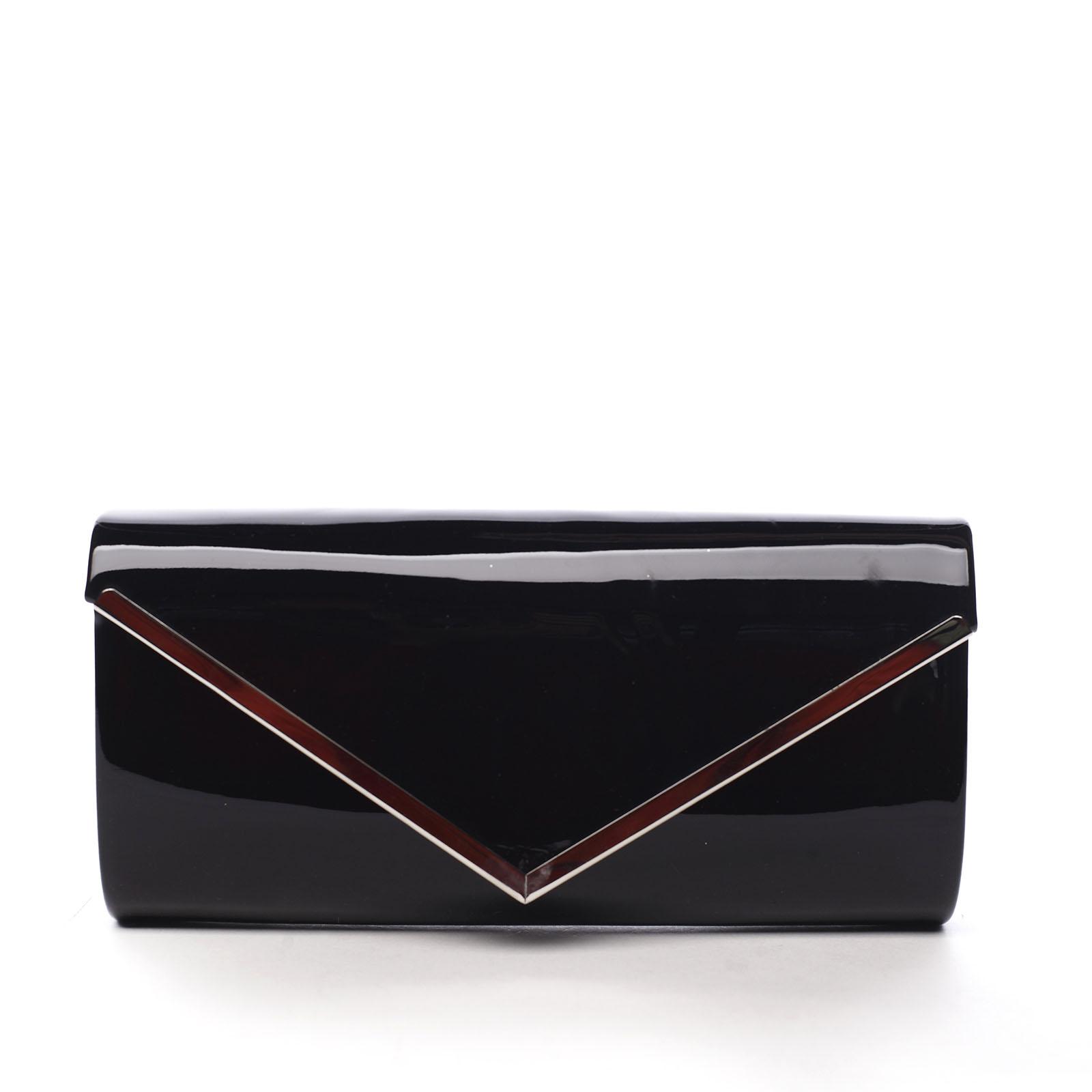 Dámska lakovaná listová kabelka čierna - Michelle Moon None čierna