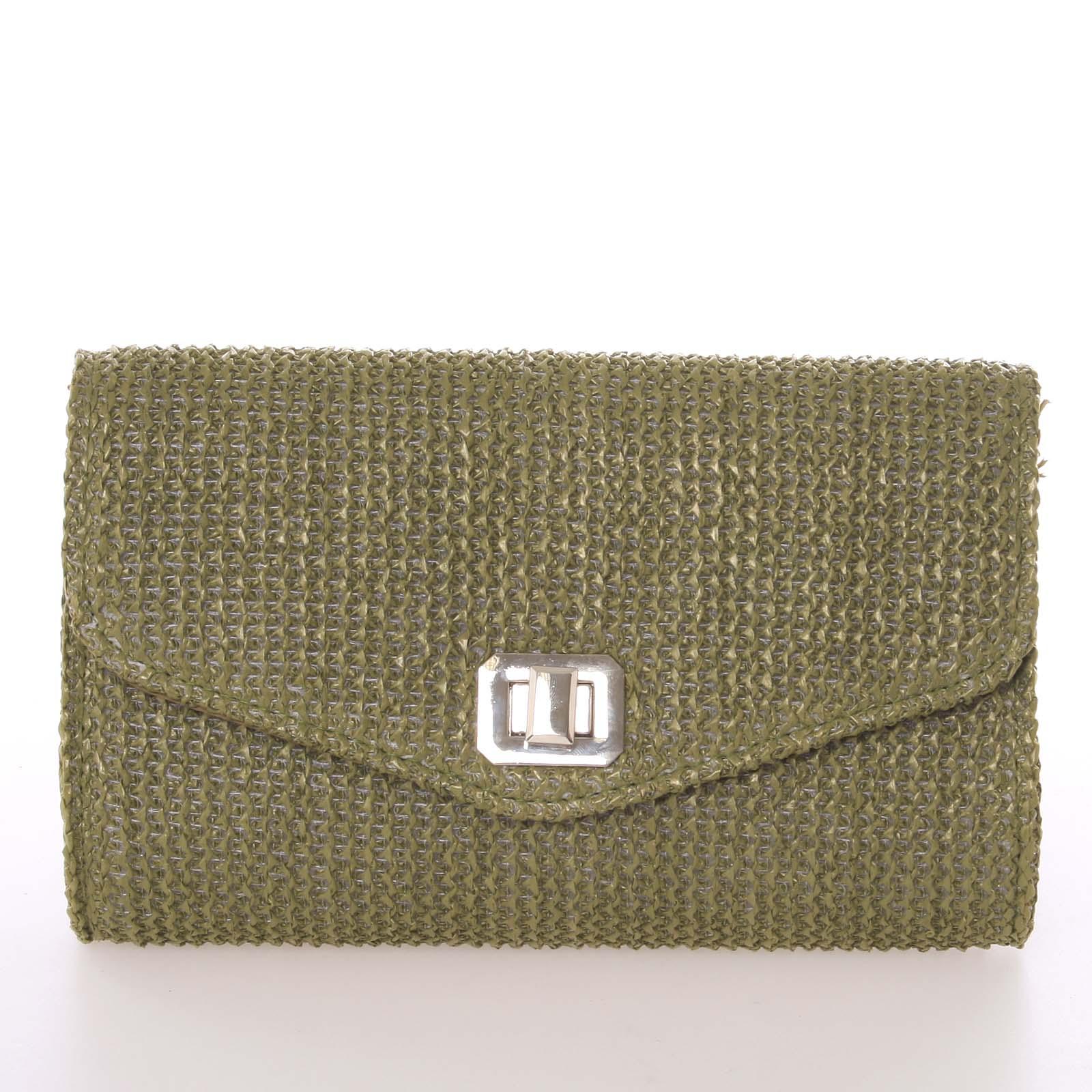 Originálna dámska listová kabelka zelená - Delami D693 zelená