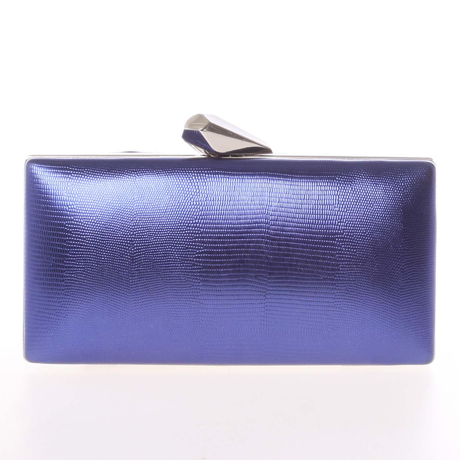 Exkluzívna dámska vzorovaná listová kabelka tmavomodrá - Delami L055 modrá