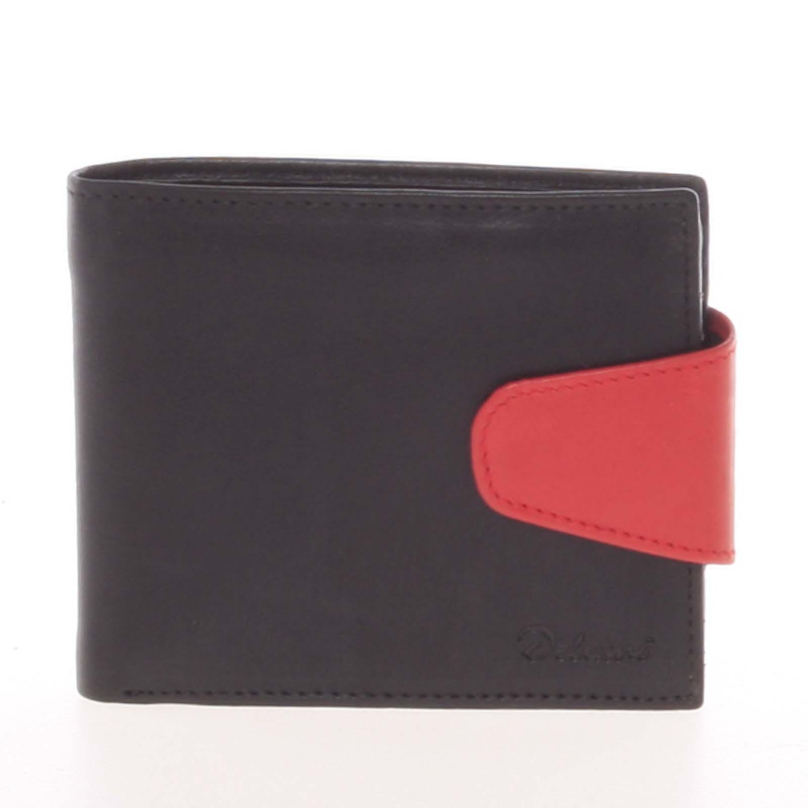 Pánska kožená peňaženka čierna - Delami 11816 čierna