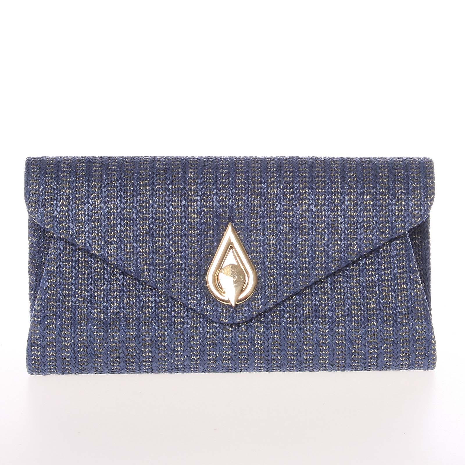 Moderná dámska preplietaná listová kabelka tmavomodrá - Delami ZL442 modrá