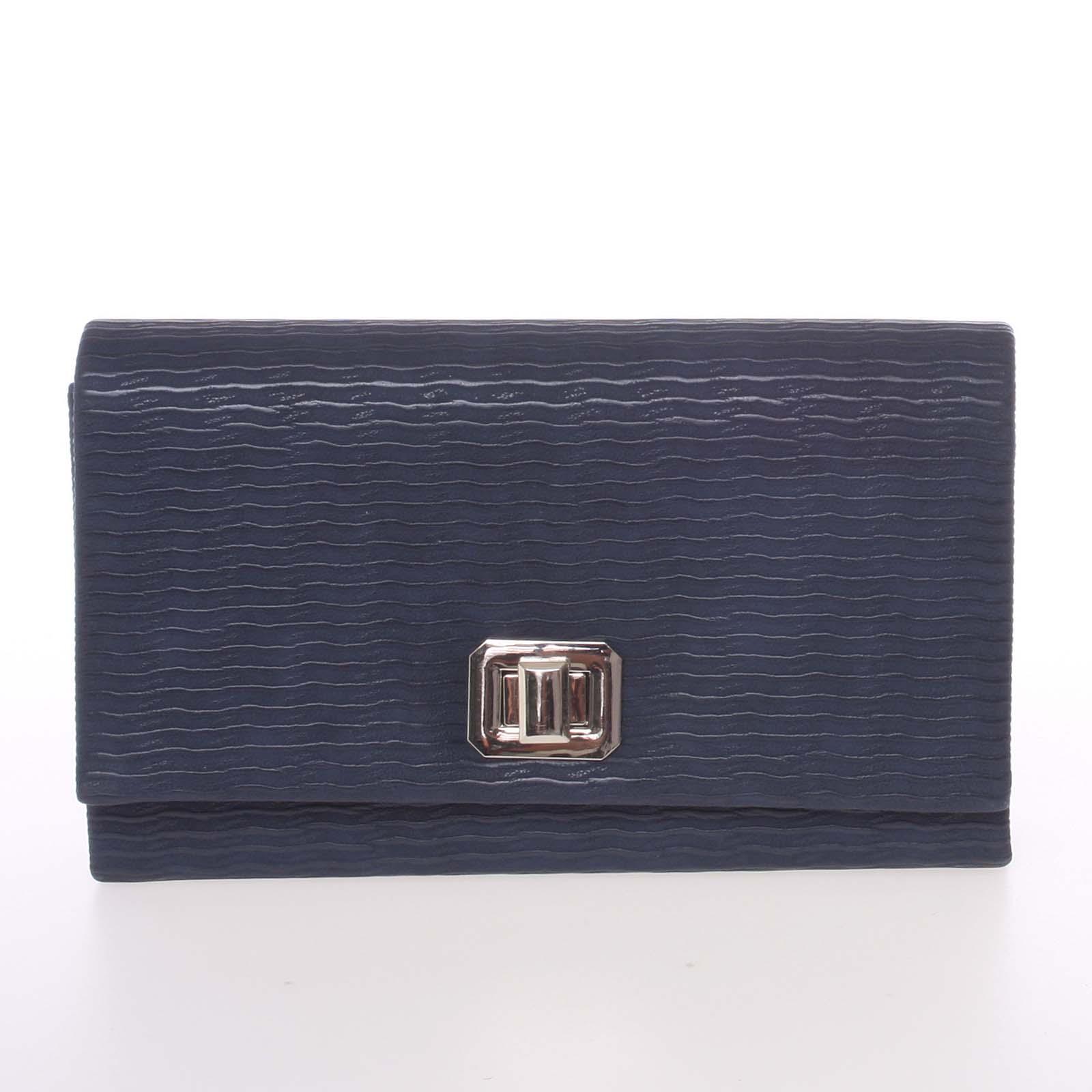 Módna dámska vzorovaná listová kabelka tmavomodrá - Delami D694 modrá