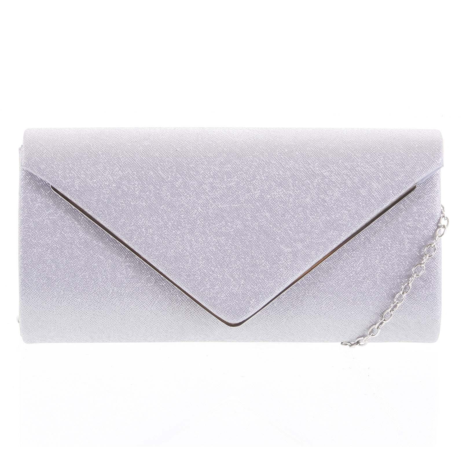 Dámska listová kabelka strieborná - Michelle Moon Cayenne strieborná