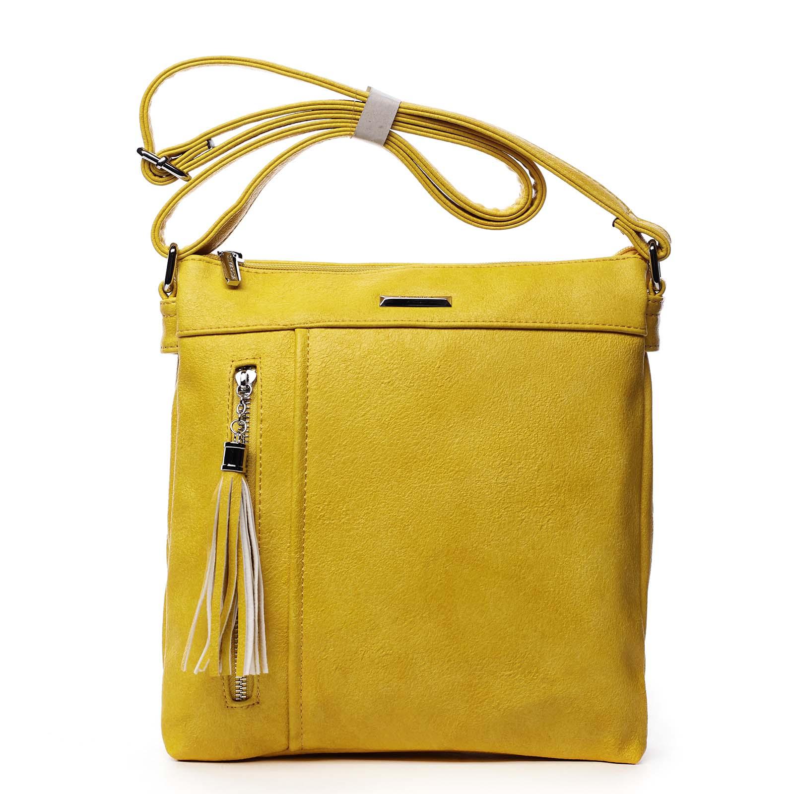Dámska crossbody kabelky žltá - Silvia Rosa Isitha žltá