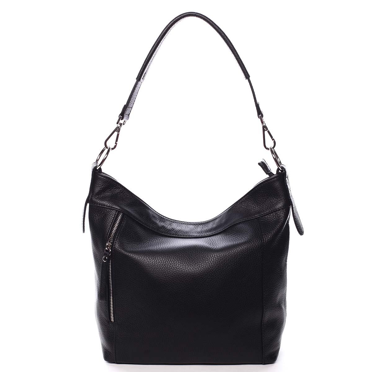 Dámska kožená kabelka čierna - ItalY Djanina čierna