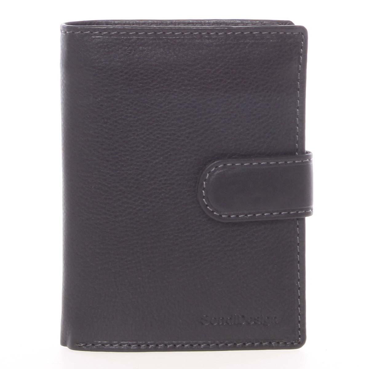 Čierna pánska kožená peňaženka - SendiDesign Sampson čierna