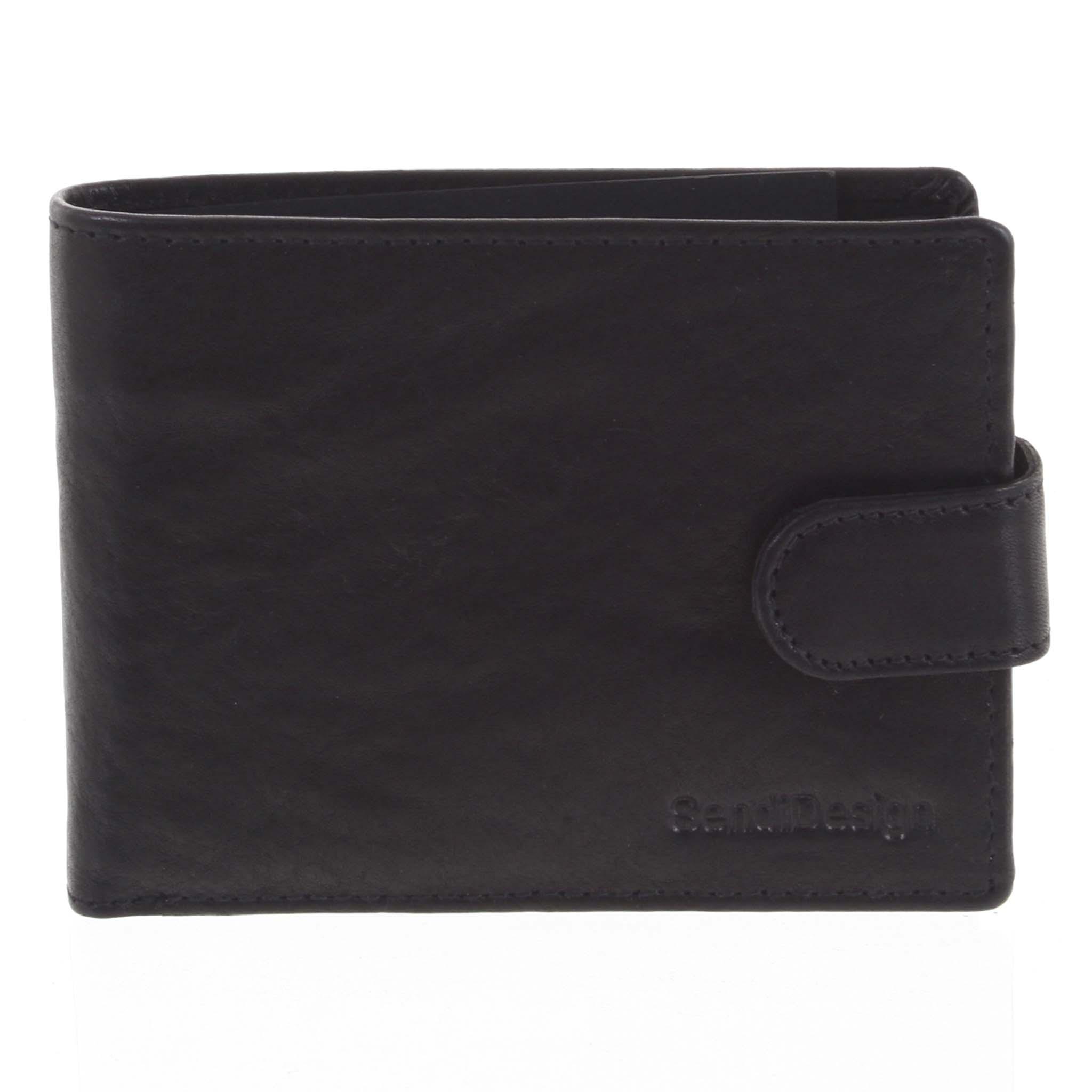 Pánska kožená peňaženka čierna - SendiDesign Mheo čierna