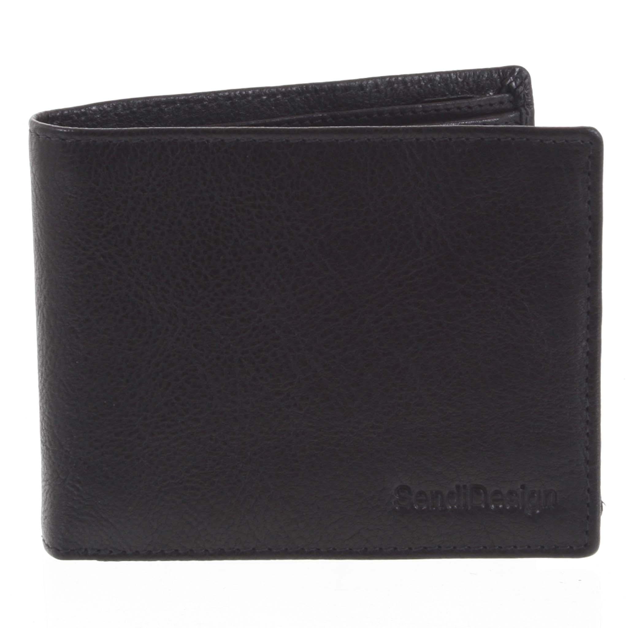 Pánska kožená peňaženka čierna - SendiDesign Maty čierna