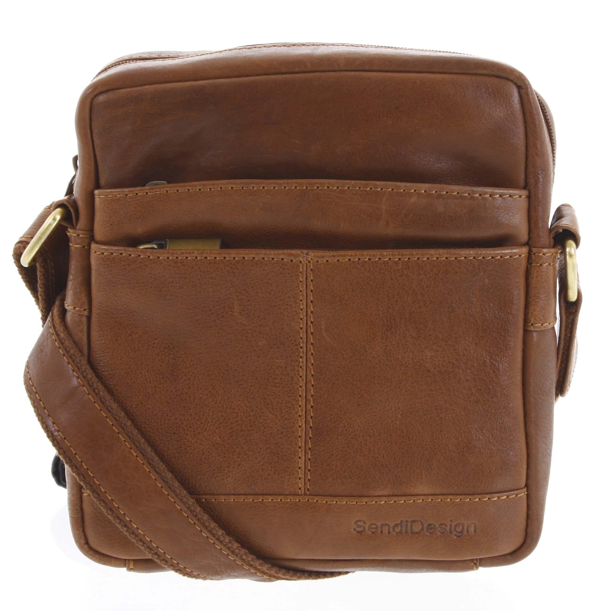Pánska kožená taška hnedá - SendiDesign Shaper hnedá