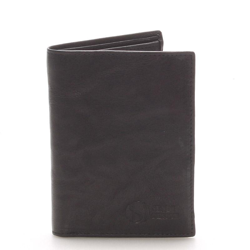 Kvalitná kožená čierna peňaženka - SendiDesign 45 čierna