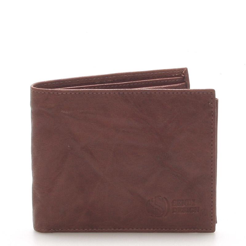 Pánska kožená peňaženka hnedá - SendiDesign 56 hnedá