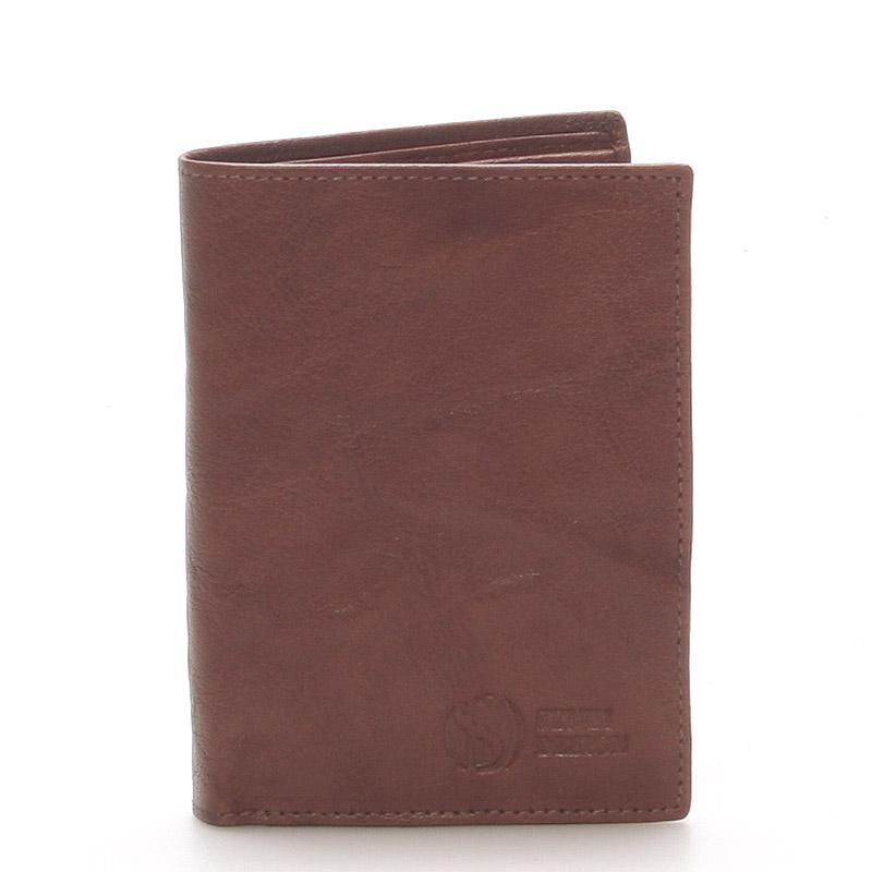 Kvalitná kožená hnedá peňaženka - SendiDesign 45 hnedá