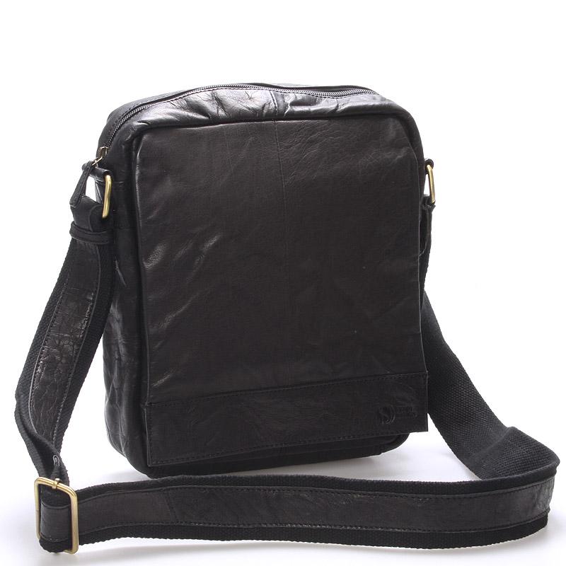 Luxusná veľká kožená crossbody taška čierna - SendiDesign diverzie čierna