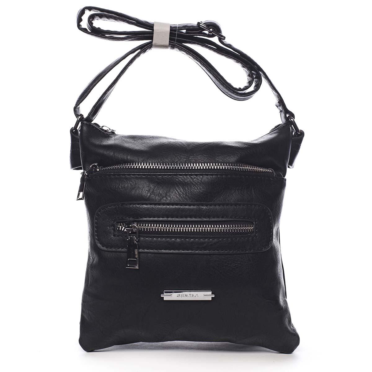 Dámska crossbody kabelka čierna - Romina Chasing čierna
