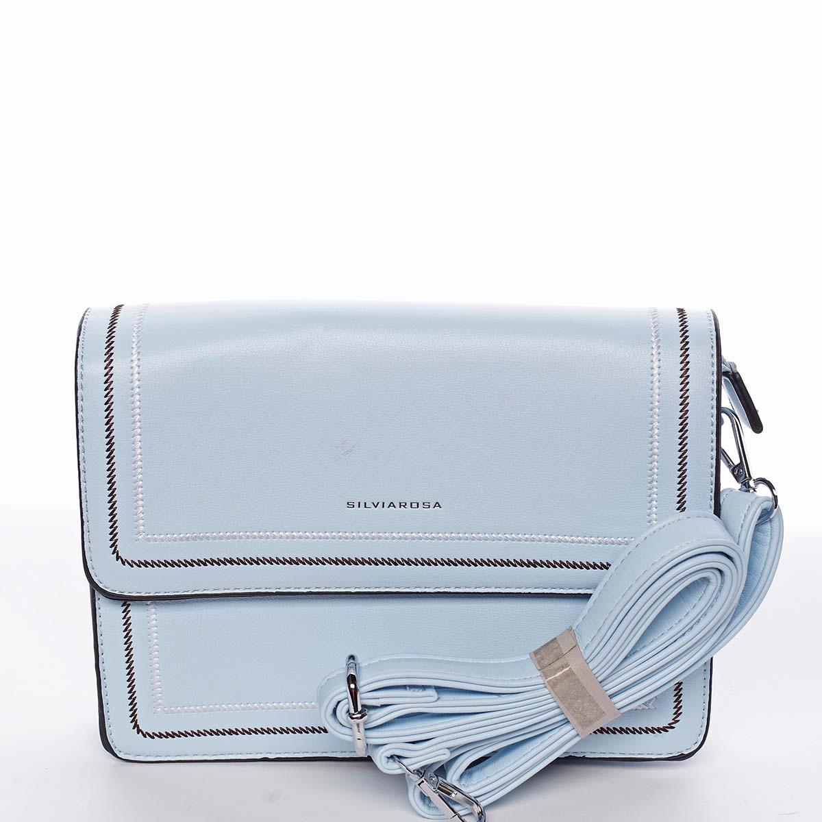 Originálna elegantná crossbody kabelka nebesky modrá - Silvia Rosa Cielo modrá