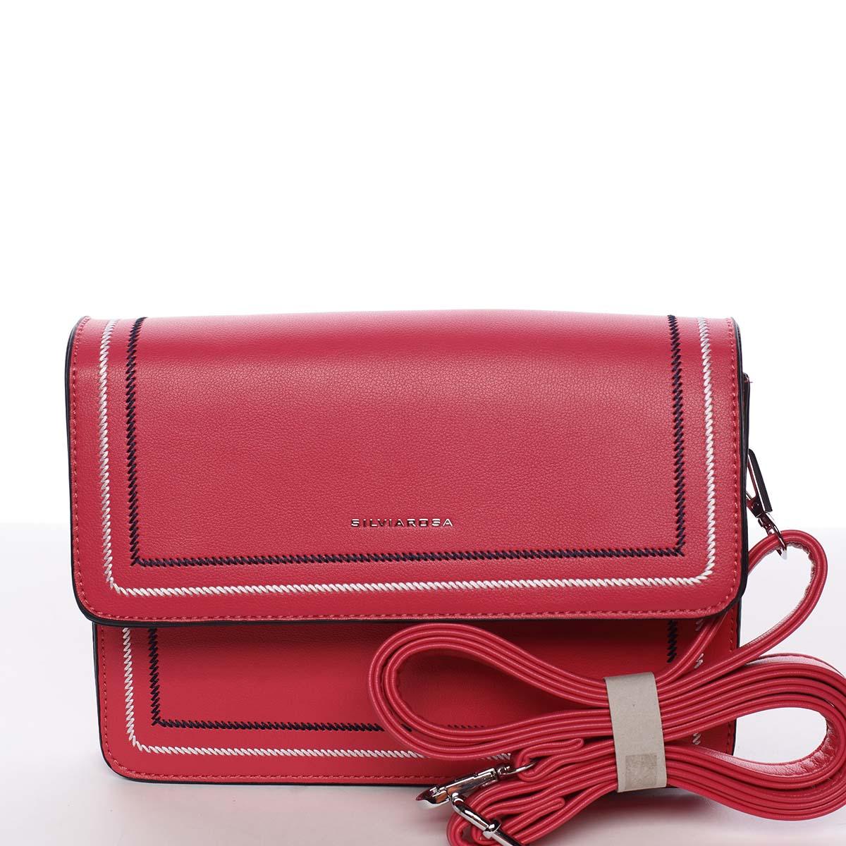 Originálna elegantná crossbody kabelka fuchsiová - Silvia Rosa Cielo ružová