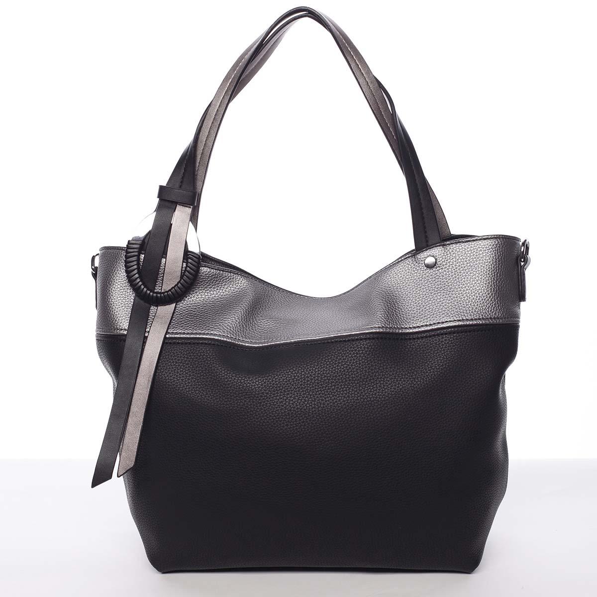 Moderná a elegantná dámska kabelka cez rameno čierna - Maria C Sahar čierna