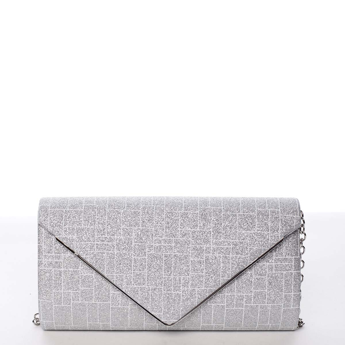 Elegantná dámska listová kabelka strieborná - Michelle Moon HightWay strieborná