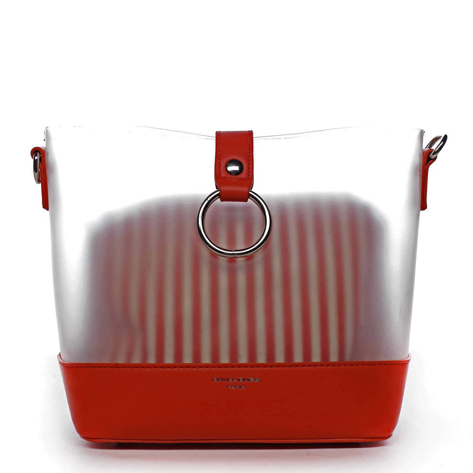 Originálna dámska crossbody kabelka červená - David Jones Crazy červená