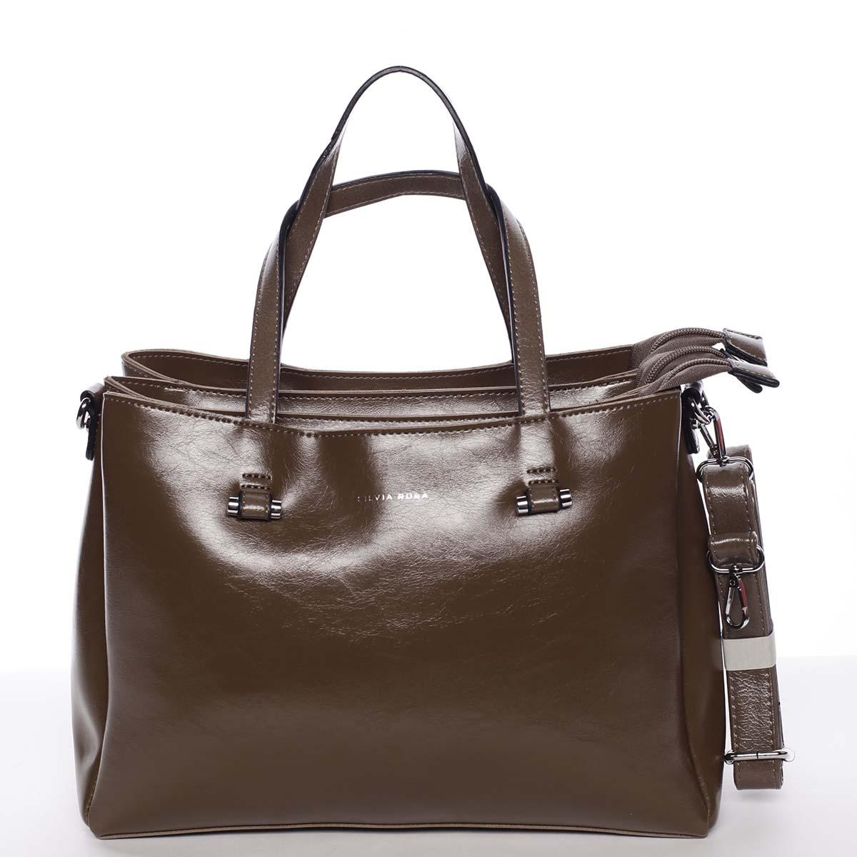 Hnedá elegantná kabelka - Silvia Rosa Saba hnedá