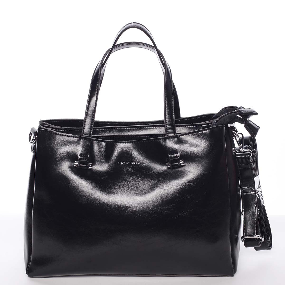 Čierna elegantná kabelka - Silvia Rosa Saba čierna