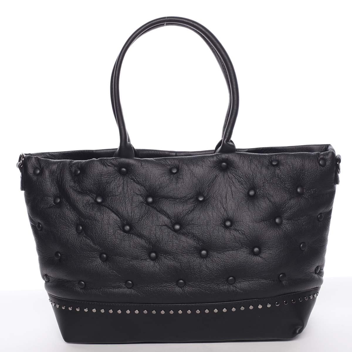 Výstredná čierna dámska kabelka cez rameno - MARIA C Soffa čierna