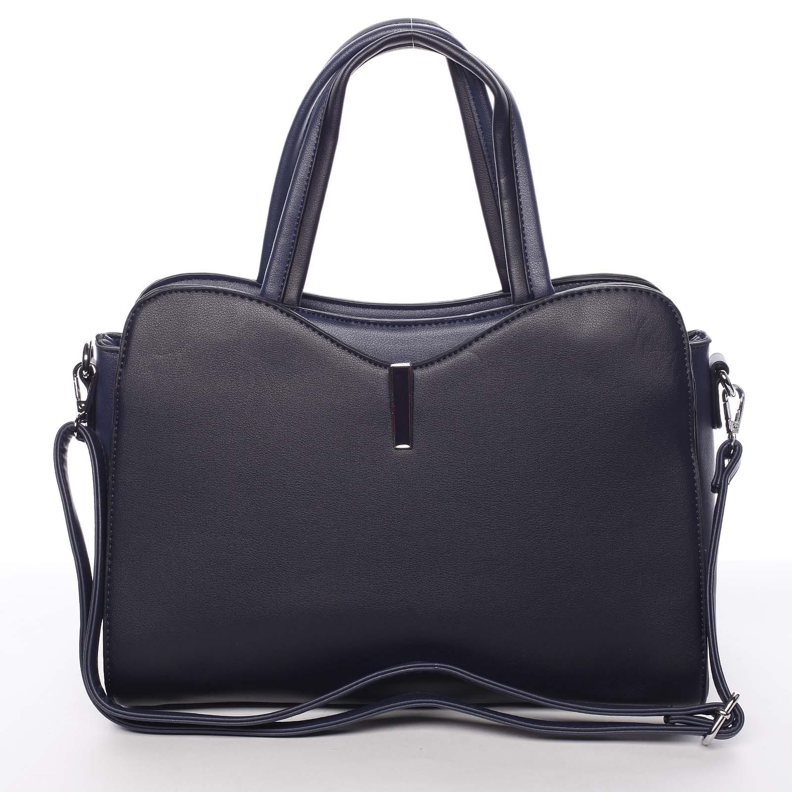 Čierna elegatná dámska kabelka do ruky tmavomodrá - Silvia Rosa Belinda modrá