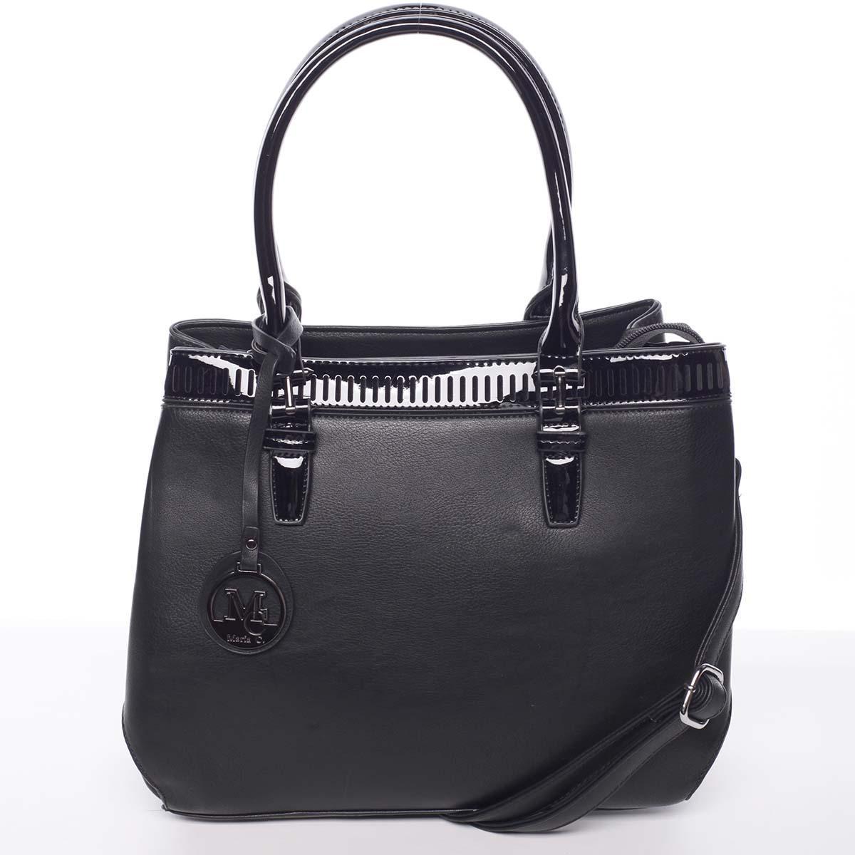 Elegantná a štýlová čierna kabelka cez rameno - MARIA C Thalassa čierna