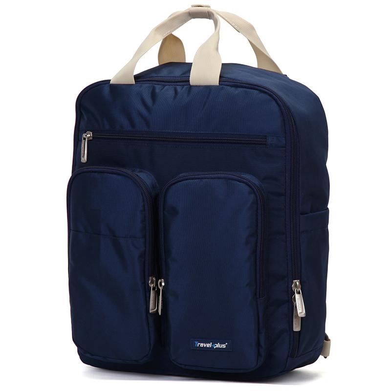 Plne funkčný dámsky batoh tmavomodrý - Travel Plus 0632 modrá