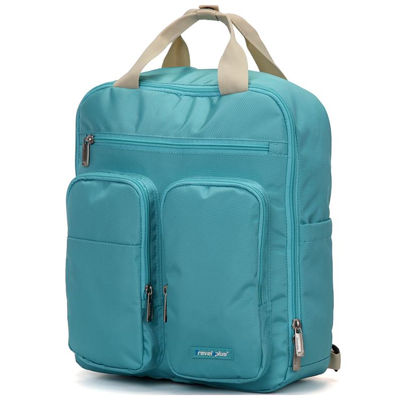 Plne funkčný dámsky batoh mentolový - Travel Plus 0632 mentolová