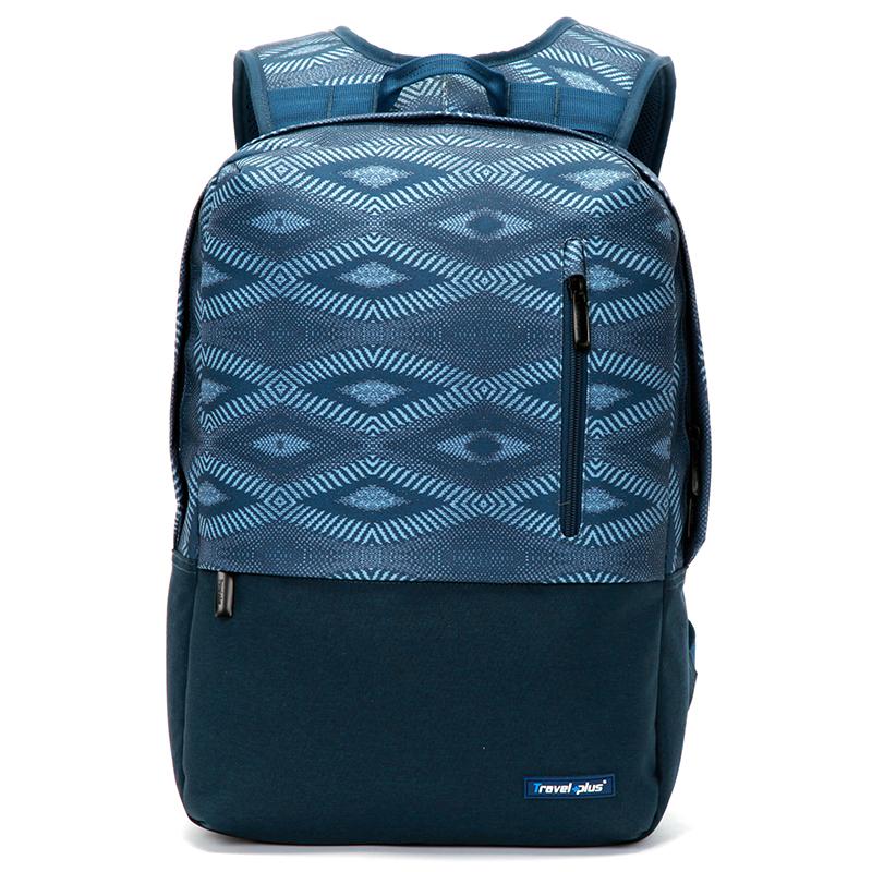 Módny cestovný modrý ruksak - Travel Plus 0117 modrá