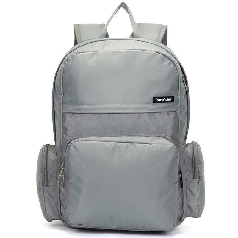 Školské a cestovné šedý batoh - Travel plus 0109 šedá