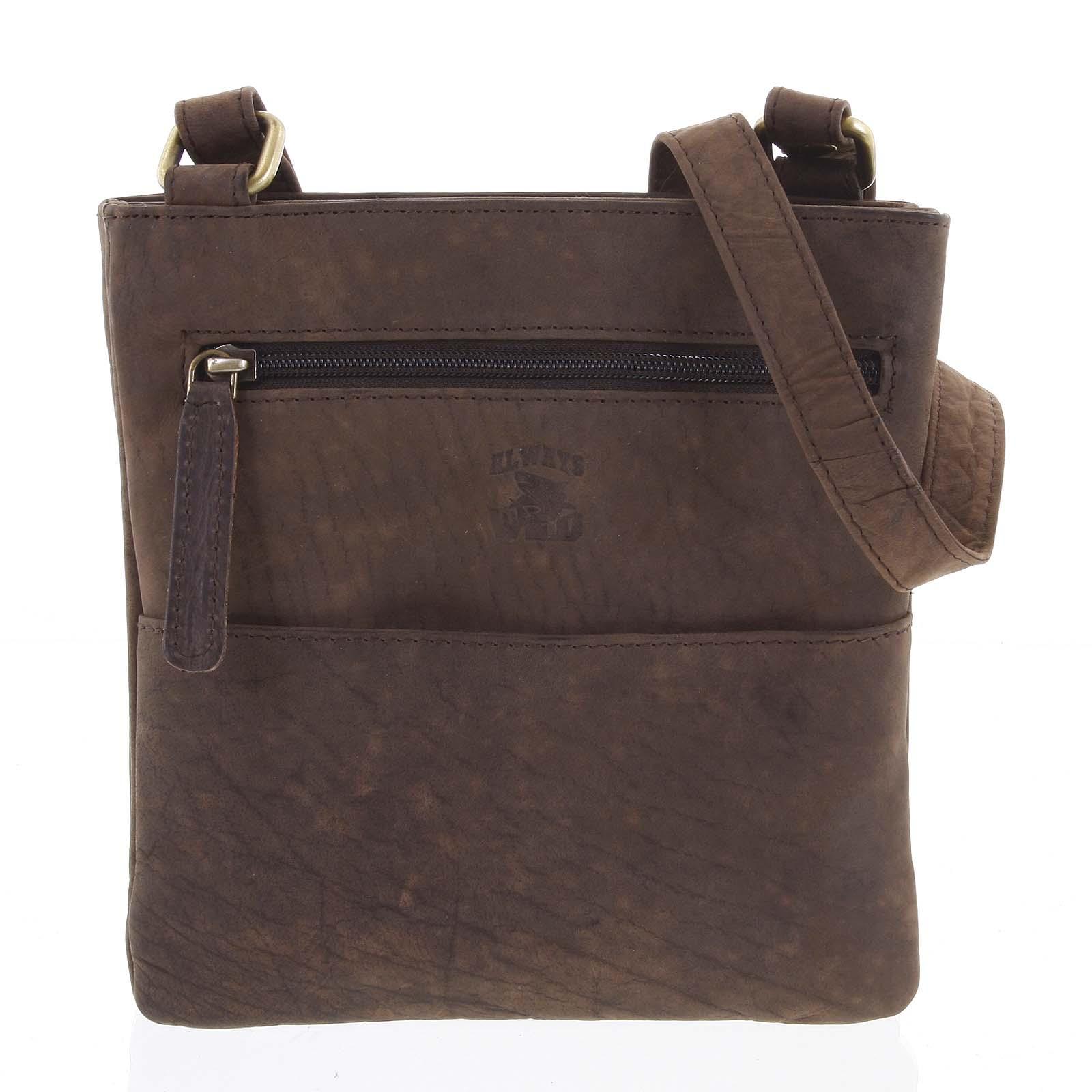Pánska kožená taška na doklady hnedá - WILD Lukeny hnedá
