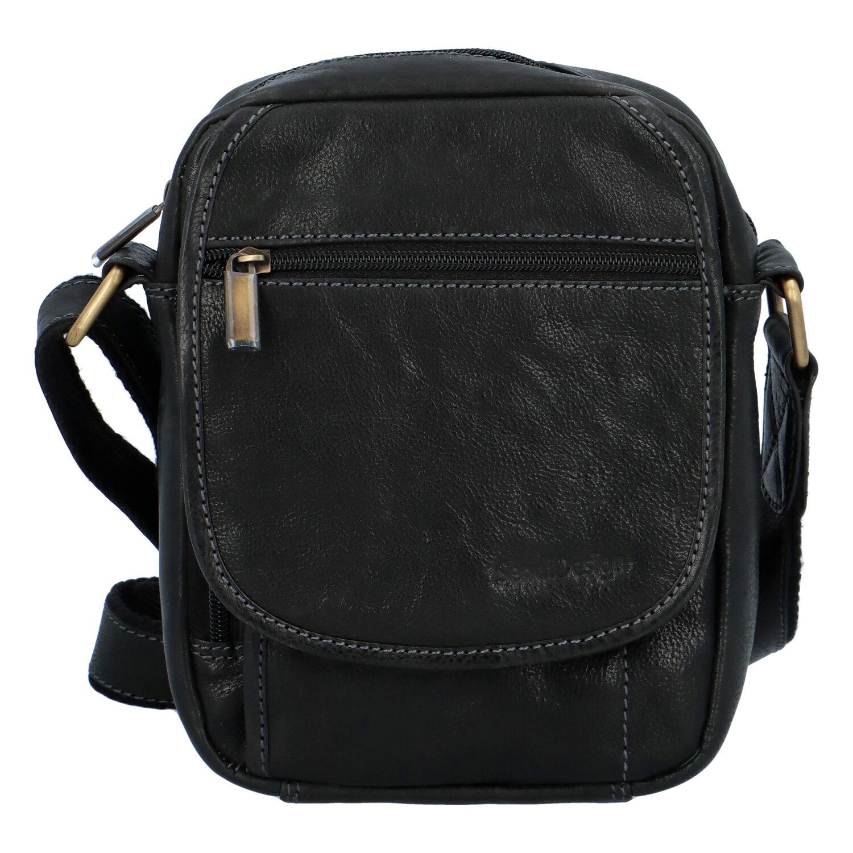 Pánska kožená taška cez rameno čierna - SendiDesign Colyn čierna