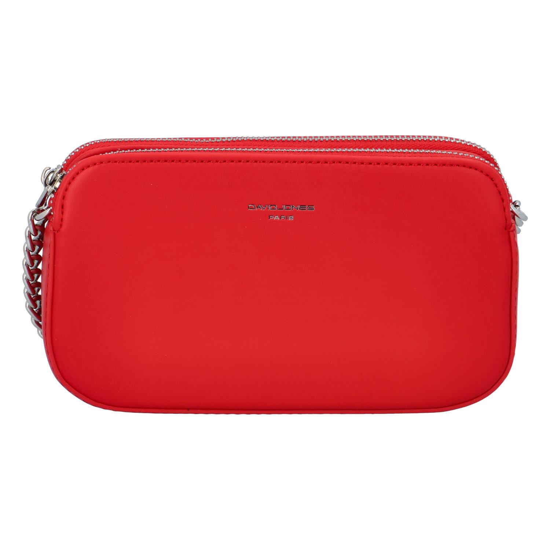 Malá dámska crossbody kabelka červená - David Jones Lily červená