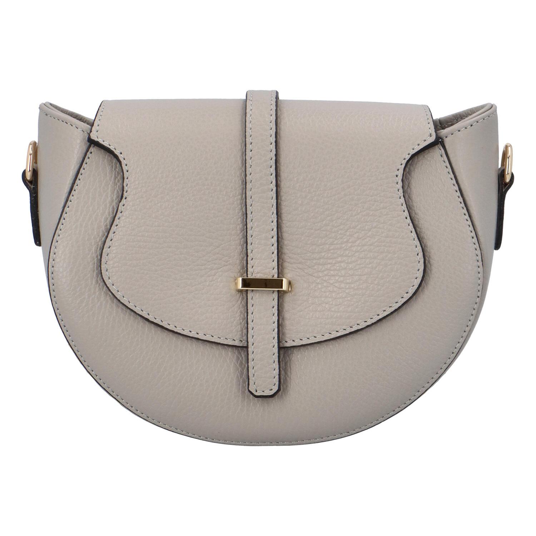 Dámska kožená crossbody kabelka svetlo šedá - ItalY Blauke šedá