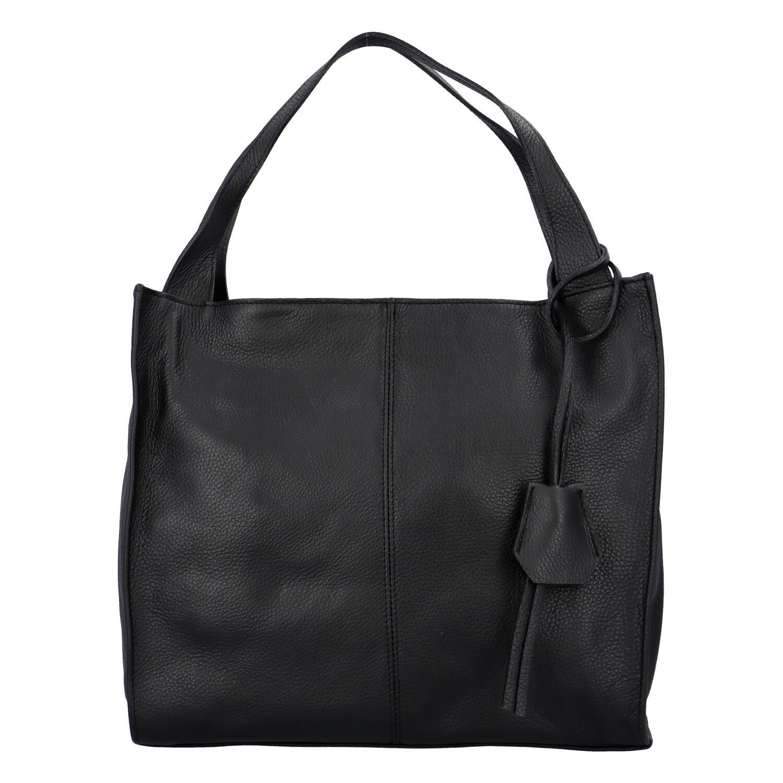 Dámska kožená kabelka čierna - ItalY Methy čierna