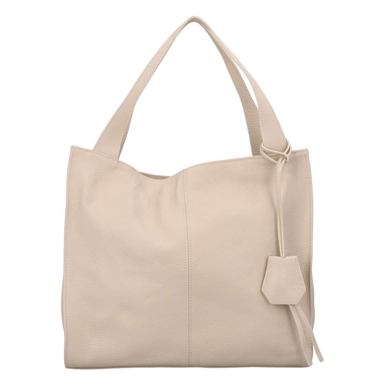 Dámska kožená kabelka béžová - ItalY Methy béžová
