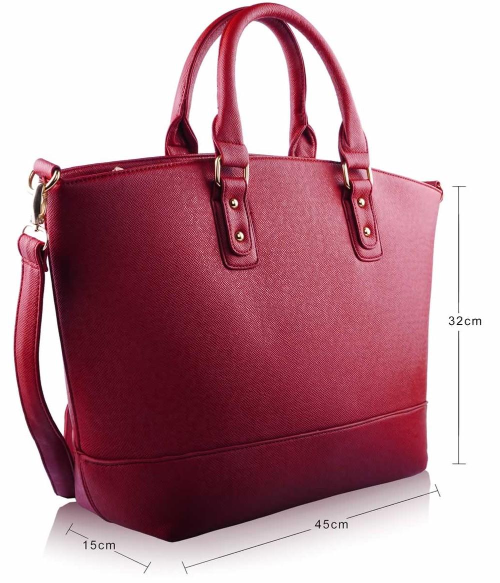 Červená väčšia kabelka LS fashion LS0085 - Kabea.cz c27431d55b0