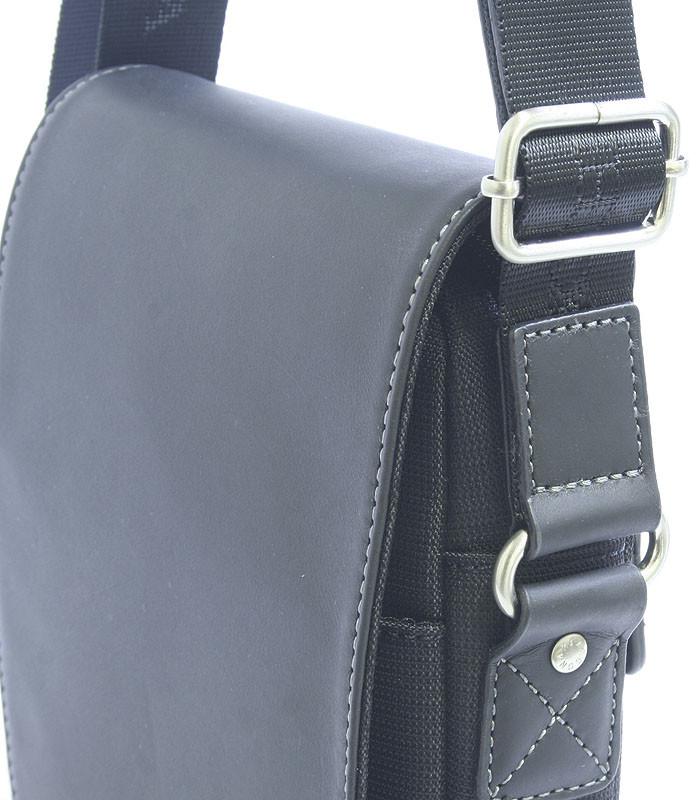 Luxusná pánska kožená kabelka cez rameno čierna - Hexagona Filippo ... 2ae76ee9967