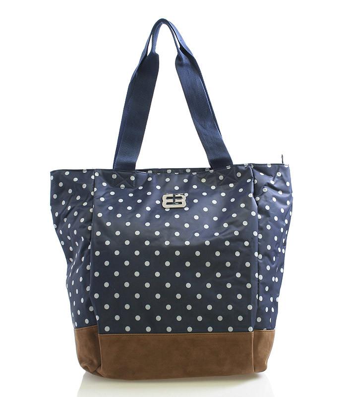 b99f988947 Veľká modrá bodkovaná taška cez rameno Enrico Benetti Pizza - Kabea.cz