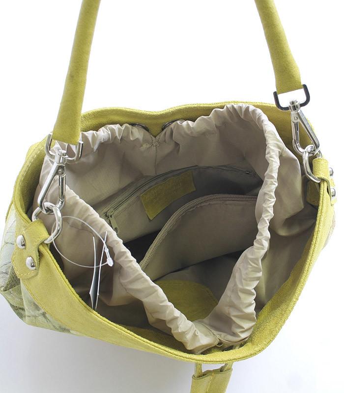 828c2db31f Žltá kvetovaná kožená kabelka ItalY 14021 - Kabea.cz
