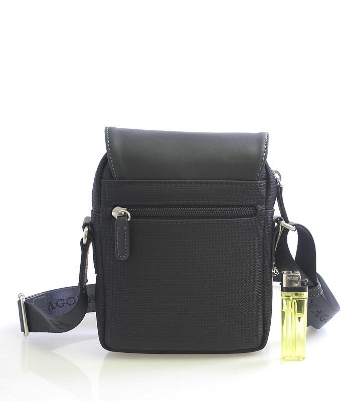 996b3ae19 ... Luxusná pánska kožená kabelka cez rameno čierna - Hexagona Filippo ...